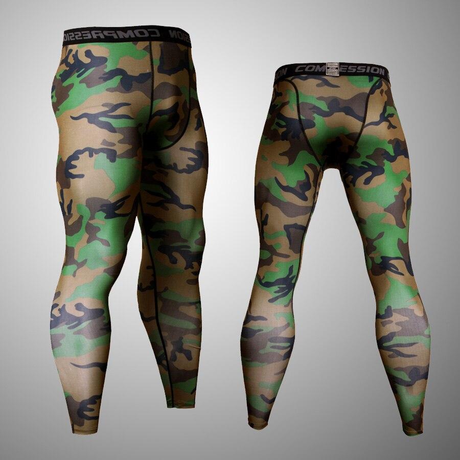 Green camouflage mens leggings