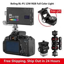 בולינג BL P1 RGB LED וידאו אור 2500K 8500K Dimmable על מצלמה תאורת צילום וידאו סטודיו DSLR מצלמה אור עבור Vlog