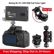 بولنغ BL P1 RGB LED الفيديو الضوئي 2500K 8500K عكس الضوء على الكاميرا التصوير الإضاءة فيديو استوديو DSLR كاميرا ضوء ل Vlog