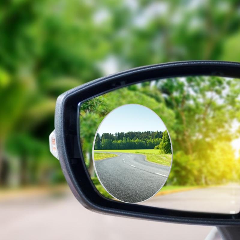 Novo 360 grande angular redondo espelho convexo do veículo carro espelho de ponto cego lateral blindspot grande espelho retrovisor pequenos espelhos redondos