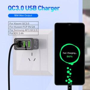 Venroii 3 USB зарядное устройство для мобильного телефона QC3.0 штепсельная вилка ЕС для iPhone XR X Xiaomi Смартфон быстрая зарядка для Huawei Быстрая зарядка