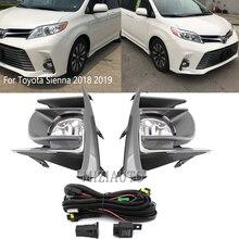 Mistlampen Montage Voor Toyota Sienna 2017 2018 2019 2020 Mistlampen Koplamp Led Lamp Bedrading Schakelaar Mistlamp Cover Frame set