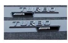 Emblema de letras para fender, emblema de letras cromadas para mercedes benz turbo para amg, 1 par