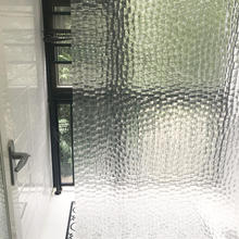 3D Waterproof  Shower Curtain with Hooks EVA Bathing Shower Curtain  transparent cube water drops Curtain   D25 thicken waterproof shower curtain with hooks