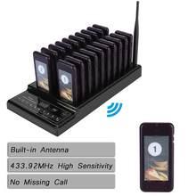 Système d'appel de serveur de file d'attente de téléavertisseur sans fil de Restaurant de 20 canaux pour le système de file d'attente de café de Restaurant chaud
