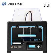 Настольный 3D принтер QIDI TECH I с двойным Экструдером, полностью металлическая рама, конструкция с 2 бесплатными нитями ABS и PLA, печатная поверхность