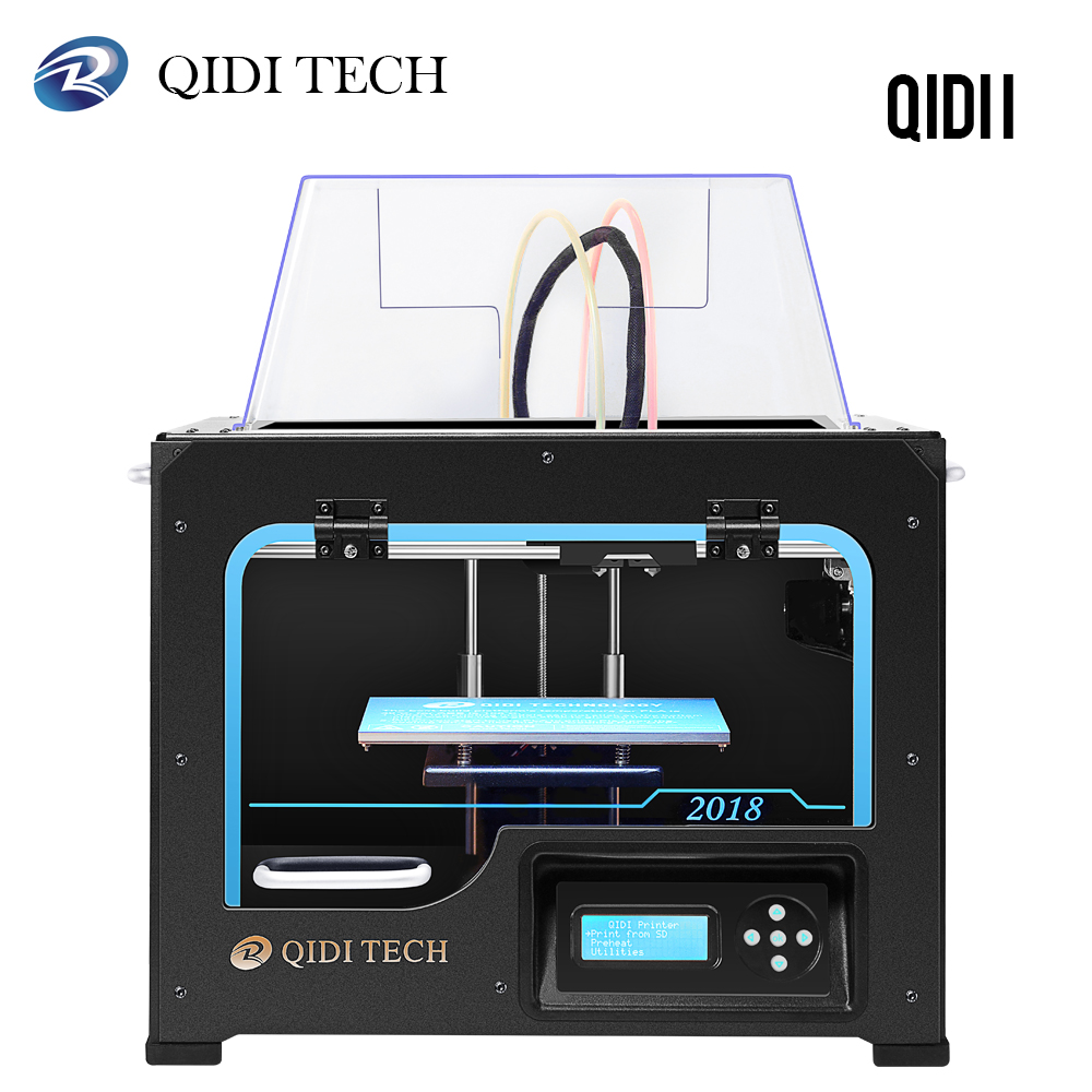 QIDI TECH I Dual Extruder Desktop 3D Printer QIDI TECH I Fully Metal Frame Structure  with2 Free Filaments ABS and PLA