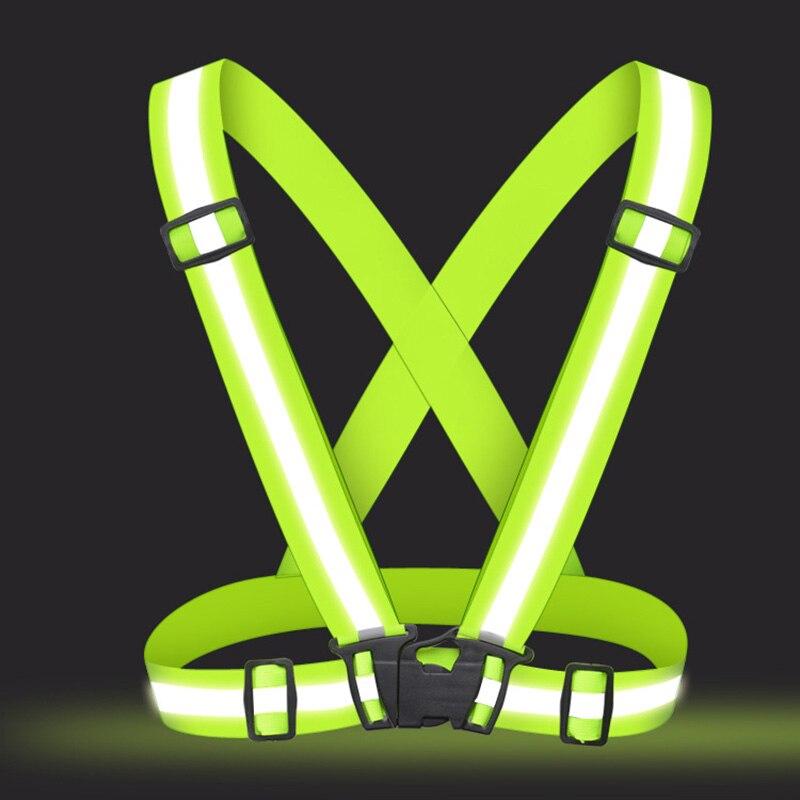 Unisex Adjustable Safety Vests High Visibility Reflective Vest Elastic Stripe Security Traffic Night Running Cycling Vest Jacket