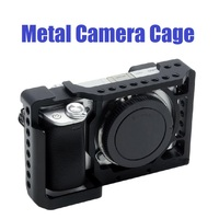 Aluminum Alloy Metal Camera Cage Housing Shell Stabilizer for Sony A6400/A6300/A6500/A6000 Camera Accessories 28TE
