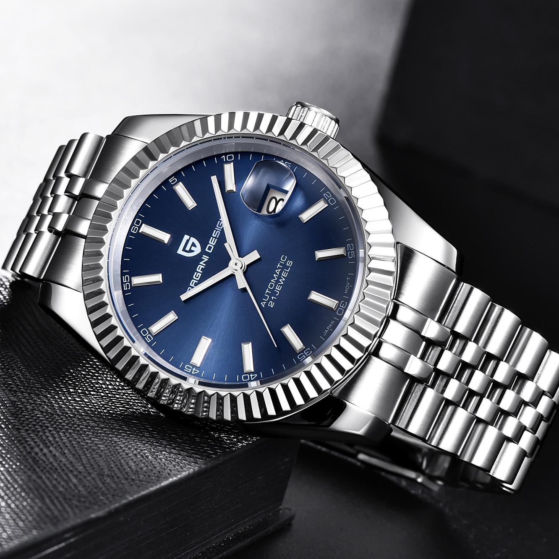 PAGANI DESIGN 2019 nouveaux hommes Top luxe montres mécaniques hommes mode entièrement en acier étanche automatique Montre horloge Montre Homme - 4