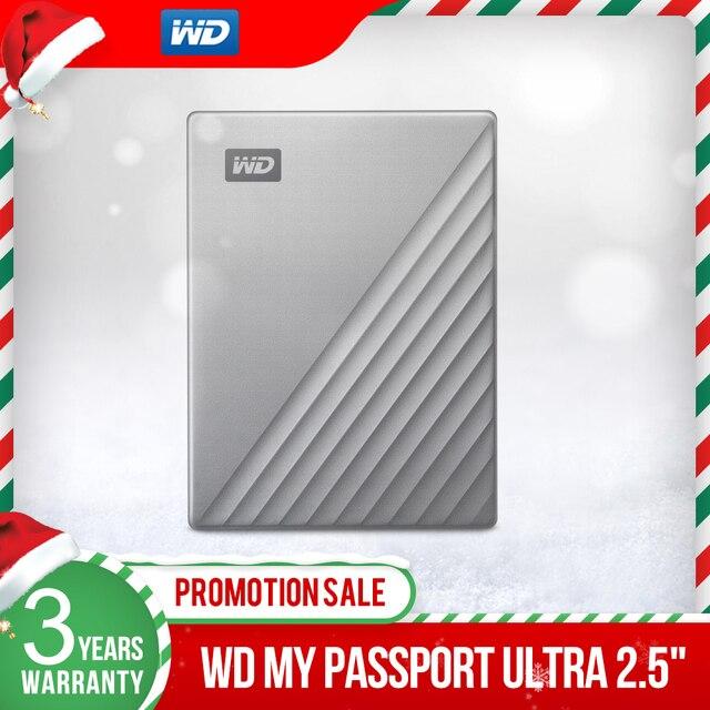 ويسترن ديجيتال WD ماي باسبورت الترا 1 تيرا بايت 2 تيرا بايت 4 تيرا بايت قرص صلب خارجي قرص USB C 256 AES محمول التشفير HDD ويندوز ماك