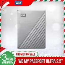 Western Digital WD My Passport Ultra 1 테라바이트 2 테라바이트 4 테라바이트 외장형 하드 디스크 USB C 256 AES 휴대용 암호화 HDD Mac