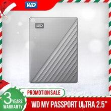 Western Digital WD mój paszport Ultra 1TB 2TB 4TB zewnętrzny dysk twardy USB C 256 AES przenośne szyfrowanie HDD dla Windows Mac
