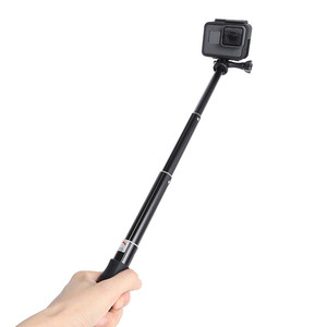 Image 4 - Extendable Waterproof Selfie Stick Monopod Hand Grip Tripod Holder for GoPro Hero 8 7 6 5 SJCAM Yi 4K Action Camera Accessories