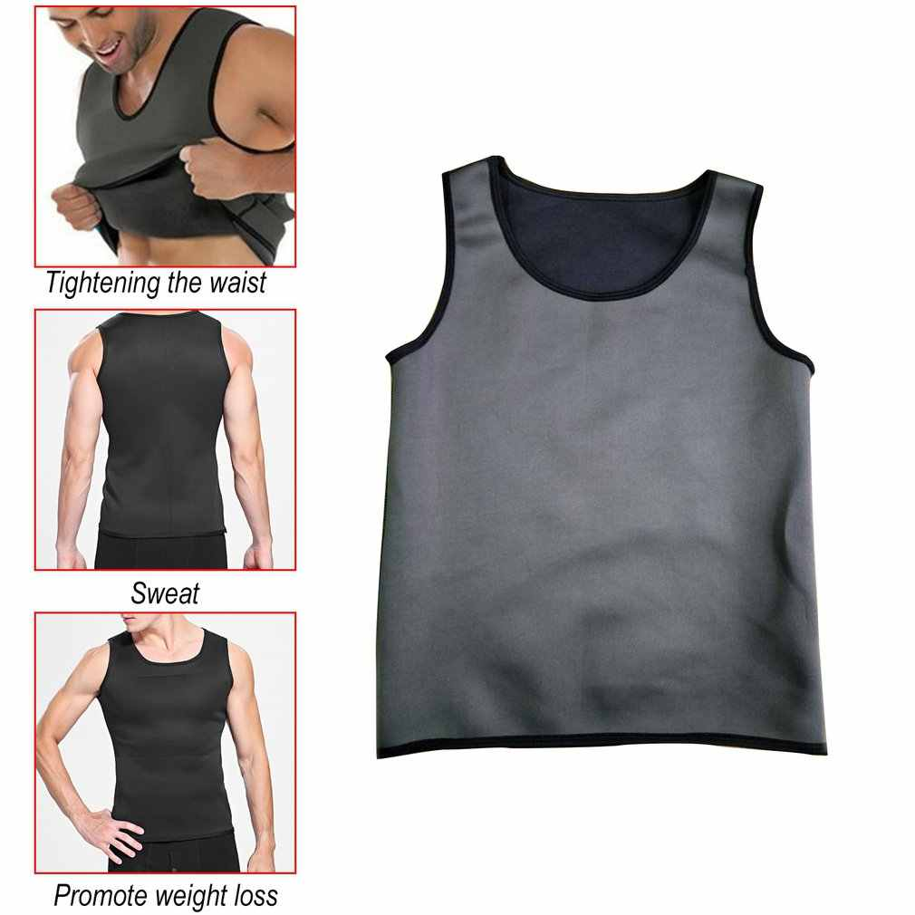 Suor sauna corpo shaper homens emagrecimento colete thermo neoprene trainer sliming cinto de cintura durável e confortável perda de peso colete