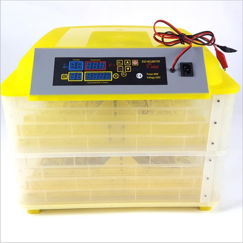 Free Shipping 96 Digital 12V 220V Hatchery Machine Full Automatic Egg Incubator Poultry Equipment For Chicken Duck Quail Parrot
