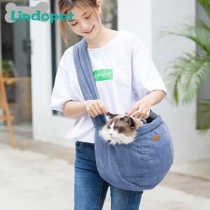 Image 5 - ペットキャリア猫子犬小動物犬ベビーキャリアスリングフロントメッシュトラベルバックパック犬のアクセサリー