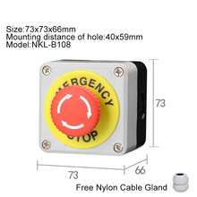 Waterproof Start stop Self-compound Switch Self Reset Button Switch Emergency Stop Industrial Handhold Control Box [vk] rafi emergency stop switch 1 30 074 281 0300 emergency stop button switch rafix 16 switch