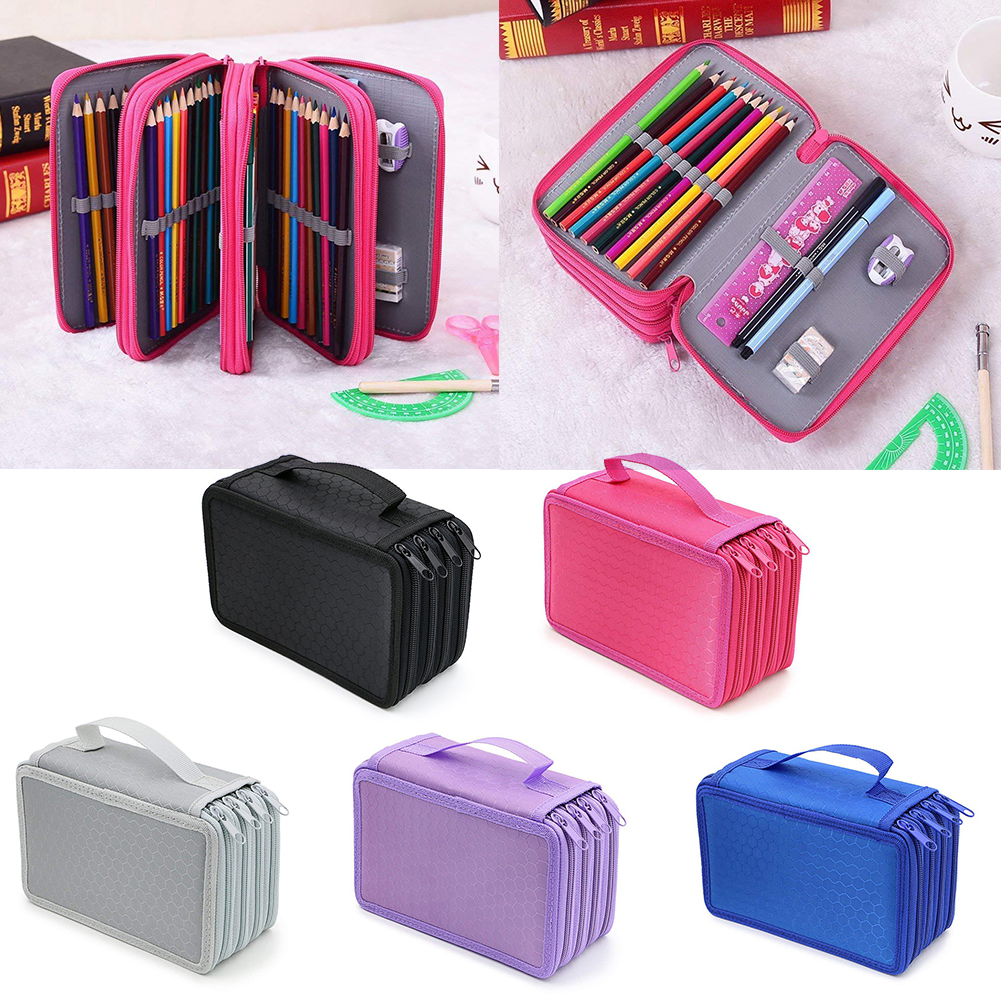 New 72 Holes Pencil Cases For Girls Boy Pencil Case School Pen Box Penalty Multifunction Storage Bag Case Pouch Stationery