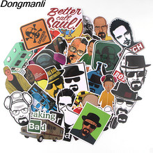 K448 34 pz/set Breaking Bad TV FAI DA TE Sticker Impermeabile Per Il Computer Portatile Moto Bagaglio di Skateboard Chitarra Montaggio Adesivo Graffiti Decalcomanie(China)