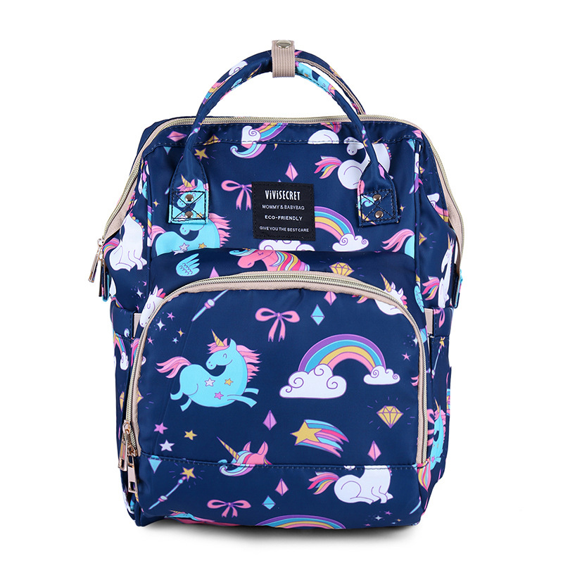 H08a41a7994e546a19536186dcdd0b859D Diaper Bag Backpack For Moms Waterproof Large Capacity Stroller Diaper Organizer Unicorn Maternity Bags Nappy Changing Baby Bag
