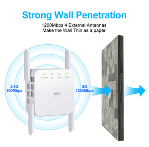 Image 2 - 5 ghz 無線 lan リピータ無線 lan エクステンダーワイヤレス無線 lan ブースター wi fi のアンプ 5 グラム 1200 150mbps のロングレンジ wi fi 信号 repiter アクセスポイント