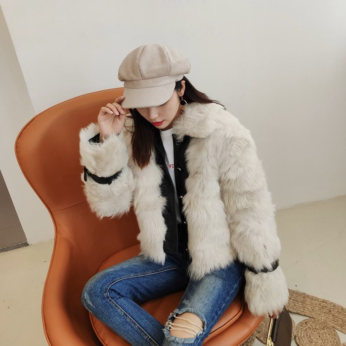 OFTBUY 2019 Real Wool Fur Coat Winter Jacket Women Genuine Sheep Leather Thick Warm Outerwear New Fashion Streetwear Luxury