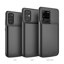 S20 Plus silicone shockproof Battery Charger Case For Samsung Galaxy S20 Ultra S20+ Extenal Power Bank Charging Back Cover Capa