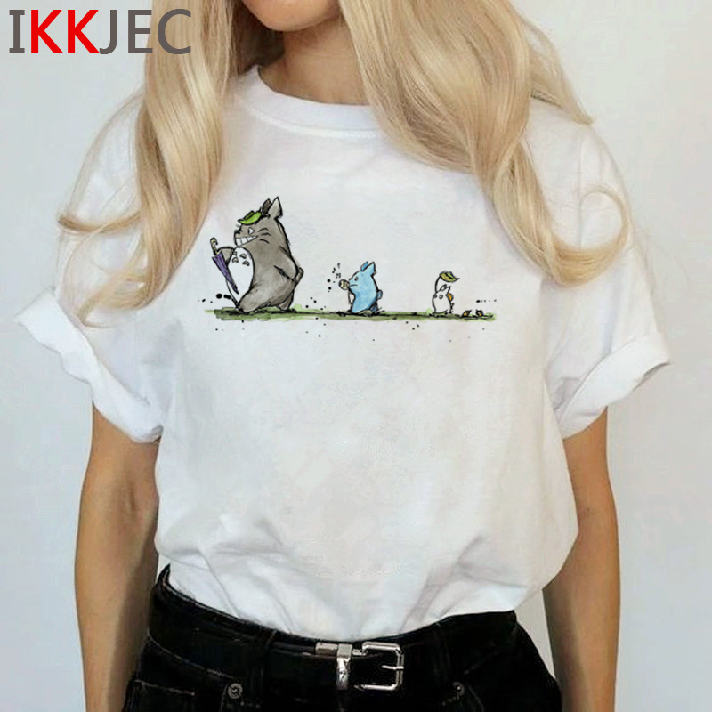 Totoro Harajuku Studio Ghibli T Shirt Women Miyazaki Hayao Ullzang Cute T-shirt Funny Cartoon Tshirt 90s Graphic Top Tees Female 25