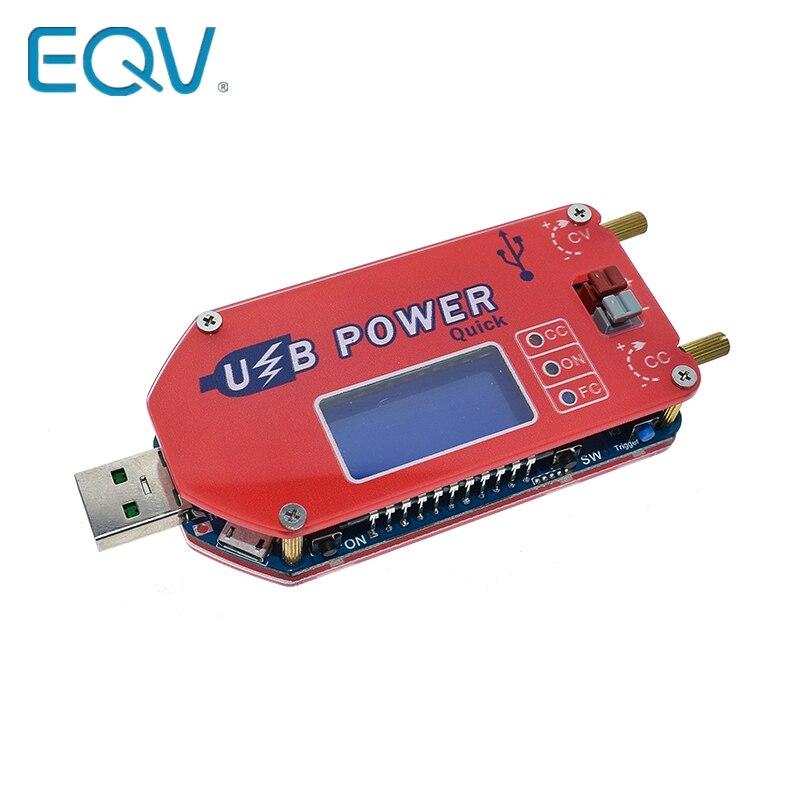 EQV 1 DP3A display Digital USB ajustável módulo de alimentação DC-30 V 15W QC 2.0 3.0 FCP Rápida carga regulador de potência laboratório de abastecimento
