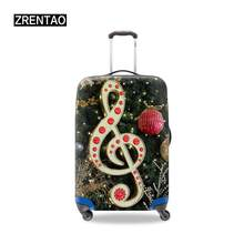 Happy Christmas Day Gifts Luggage Trolley Case Protective Covers Waterproof Suitcase Cover Fits 18-32 Inch Travel Baggage Adults(China)