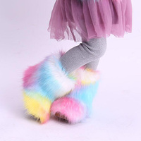 Baby Girl Snow Boots Winter Half Boots Infant Kids New Bottom Shoes Fur boots