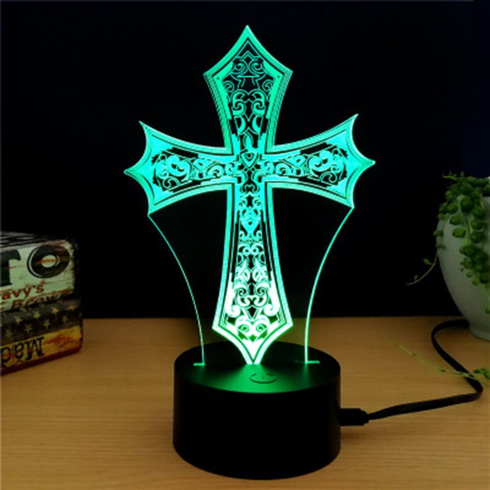 Souvenir Gift Touch Switch Table Desk Light 3D Acrylic LED Night Light Lamp Acrylic Room Atmosphere Light For Home Office