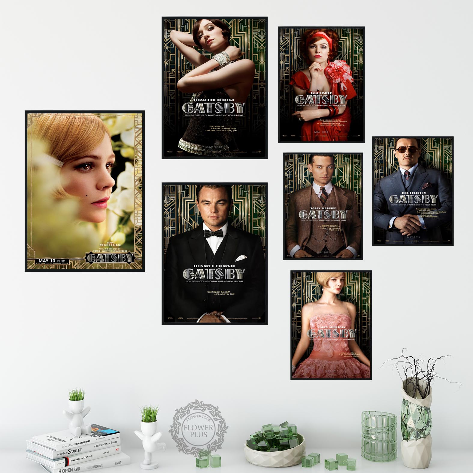 <font><b>Leonardo</b></font> <font><b>DiCaprio</b></font> the Great Gatsby <font><b>Painting</b></font> Canvas Wall Art Pictures Unframe Home Decor 1 Pieces Printed Poster quadro cuadros image