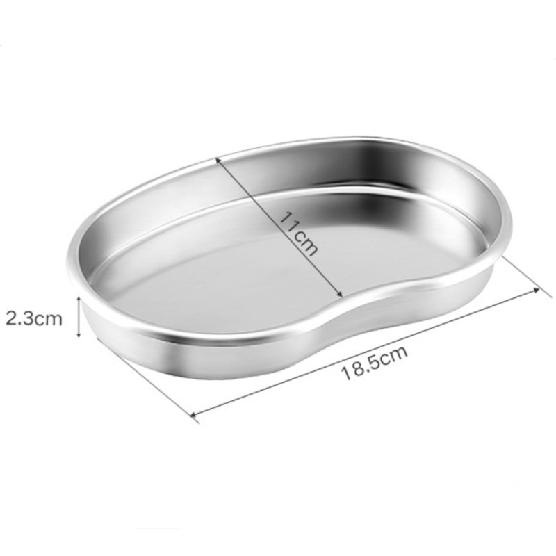 S Size Silver Stainless Steel Tattoo Tray Surgical Disinfection Bending Plate For Dental Eyebrow Lip Tattoo Sterilization Tools