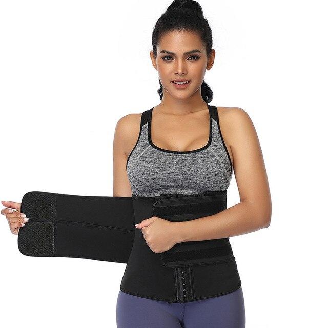 Women Slimming Sheath Waist Trainer Tummy Reducing Shapewear Belly Body Shapers Sweat Strips Sauna Corset Workout Trimmer 4
