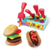 Большой размер для создания пластилина Гамбург 3D цветная глина плесень набор инструментов комбинация пластилина детский игровой дом DIY игрушка