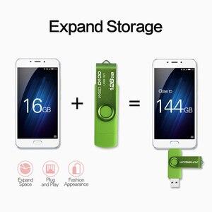 Image 4 - WANSENDA Usb 3.0 USB Flash sürücü yüksek hızlı OTG kalem sürücü 16GB 32GB 64GB 128GB 256GB Pendrive 2 in 1 mikro USB sopa çift USB