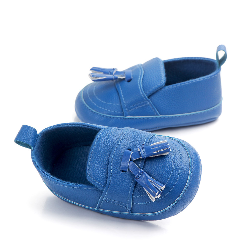 Newborn Pu Leather Shoes Infant Baby Boy Girl Casual Toddler Patchwork Solid Baby Shoes Sports Slip-on First Walkers