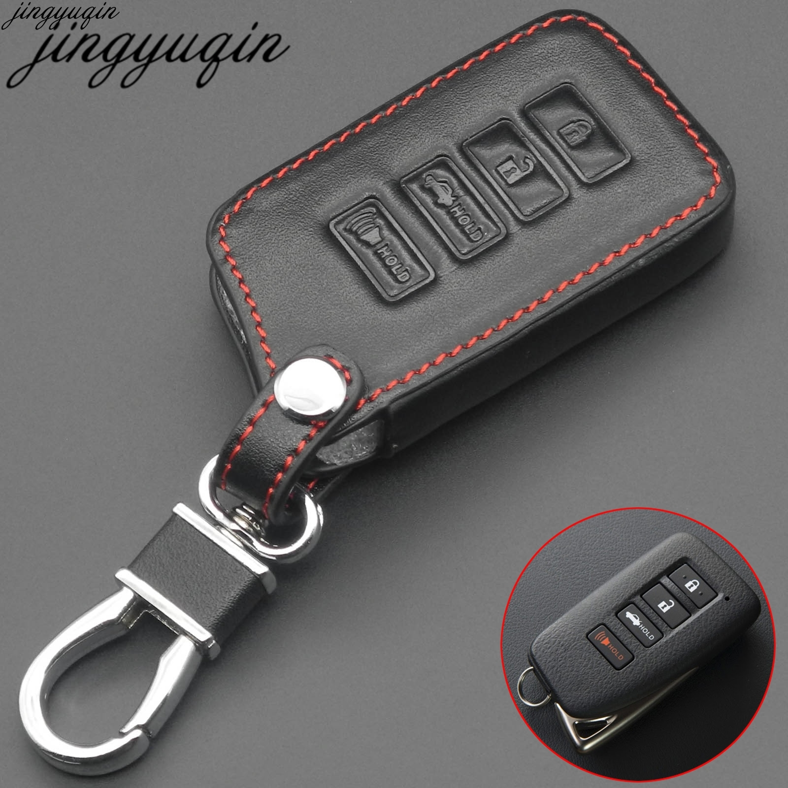 4 Button Key Fob <font><b>Cover</b></font> Case For <font><b>Lexus</b></font> ES350 NX200T <font><b>NX300h</b></font> LX570 <font><b>Car</b></font> Remote Holder Protector image
