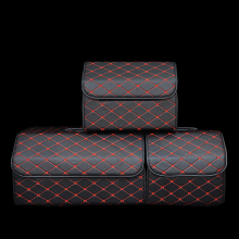 Складная сумка для хранения в багажник автомобиля Органайзер с крышкой портативный автомобильный органайзер для хранения из искусственной кожи авто багажник Коробка органайзер