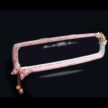 Украшенное кристаллами бриллианты Стразы розовая бабочка лук