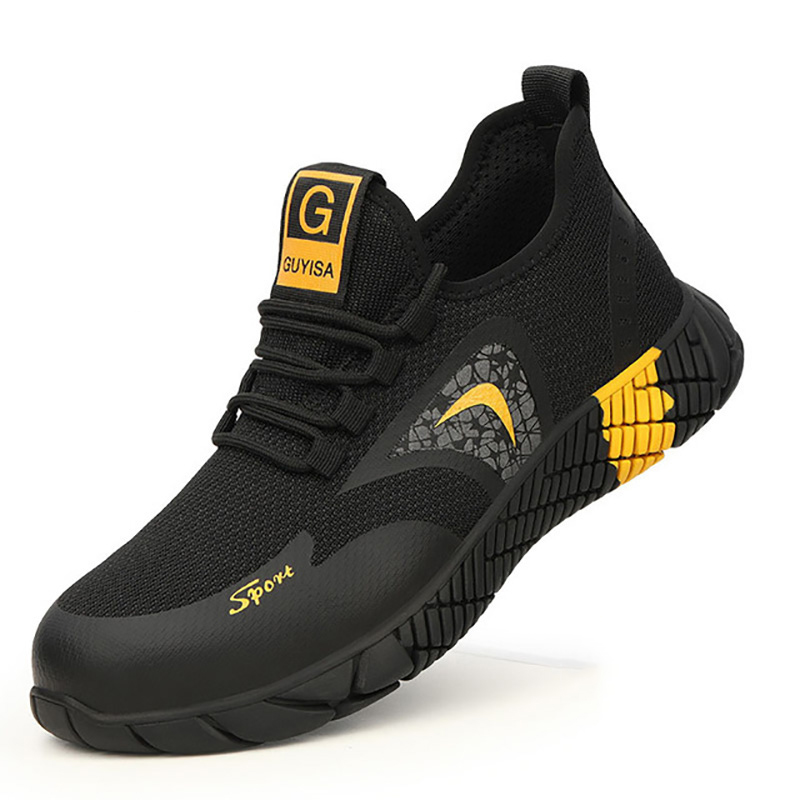 2020 New Breathable Men Safety Shoes Steel Toe  Non-Slip Work Boots Indestructible Shoes Puncture-Proof Work Sneakers Men 2