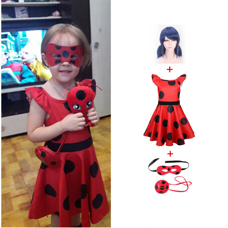 Fantasia Spandex Red Bug Costumes Kids Dress Cosplay Christmas Party Bag Girls Children Red Bug Zentai Suit Halloween Costume