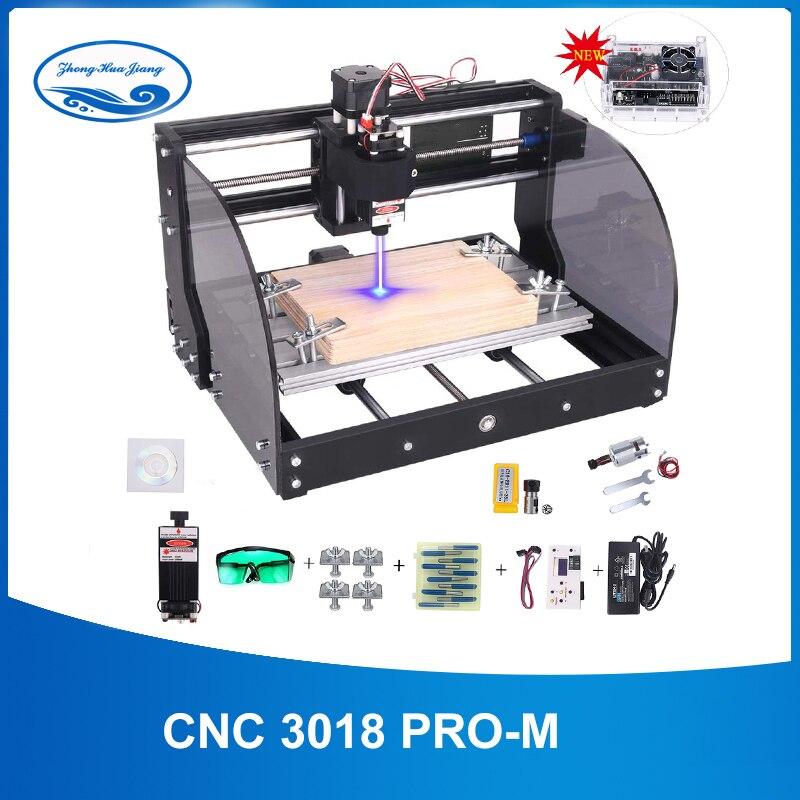 CNC 3018 pro-m GRBL contrôle bricolage mini CNC machine, 3 axes pcb fraiseuse, bois routeur gravure laser, avec contrôleur hors ligne