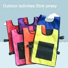 Chaleco adhesivo con pelota adhesiva para niños, chaleco con accesorios de juego de deportes al aire libre, juguetes para lanzar