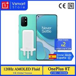 Смартфон OnePlus 8 T 8 T 8GB 128GB Snapdragon 865 5G 120Hz AMOLED жидкий экран 48MP Quad Cam 4500mAh 65W Warp