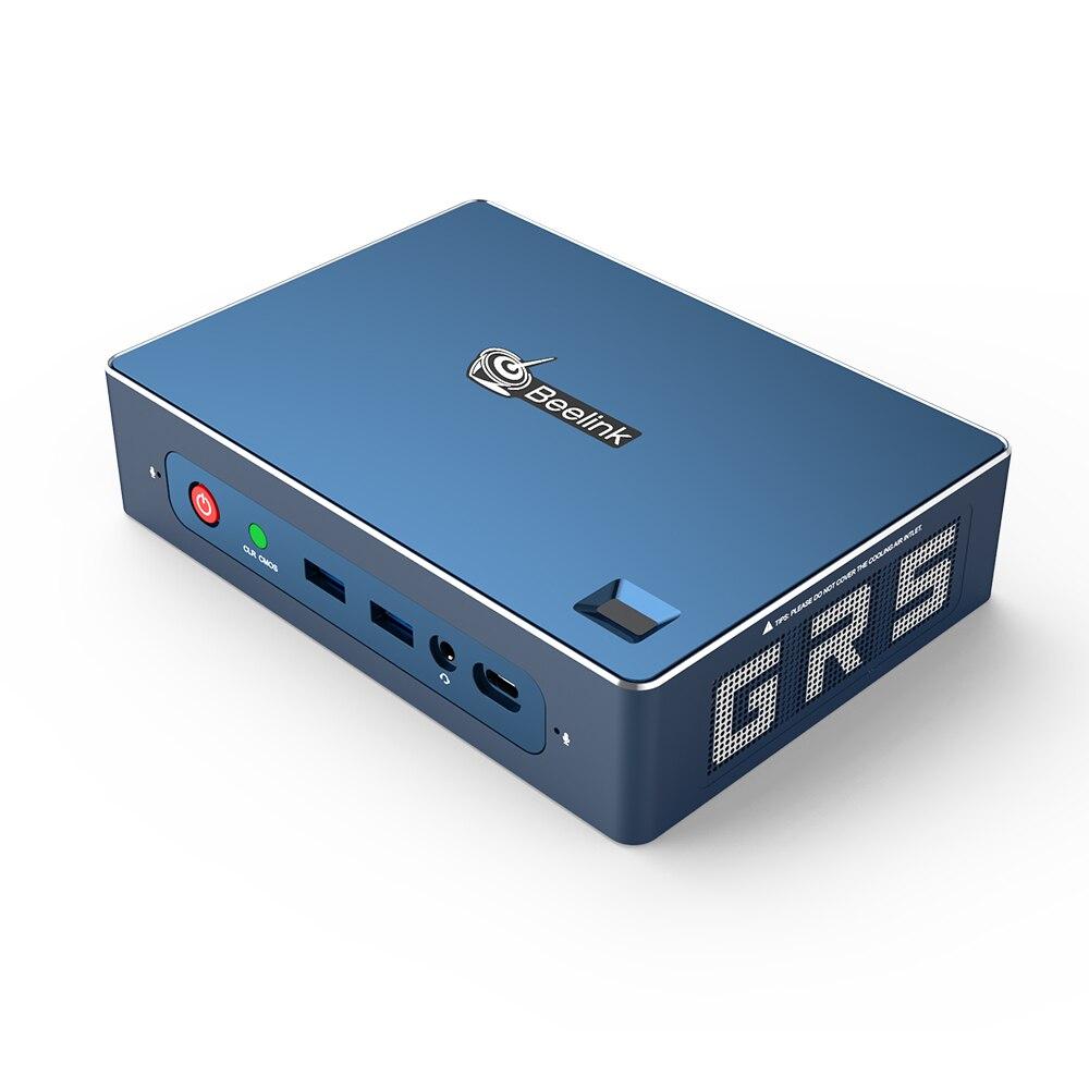 GTR AMD мини-ПК Ryzen 5 3550H 16 Гб/512 ГБ Windows 10 WiFi 6 вход по отпечатку пальца голос HDMI 2,0 DP Type-C HTPC игровой компьютер NUC