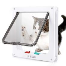 Pet-Supplies Flap-Door Door-Cat Doggie-Doors with 4-Way-Lock 3-Sizes Entrance