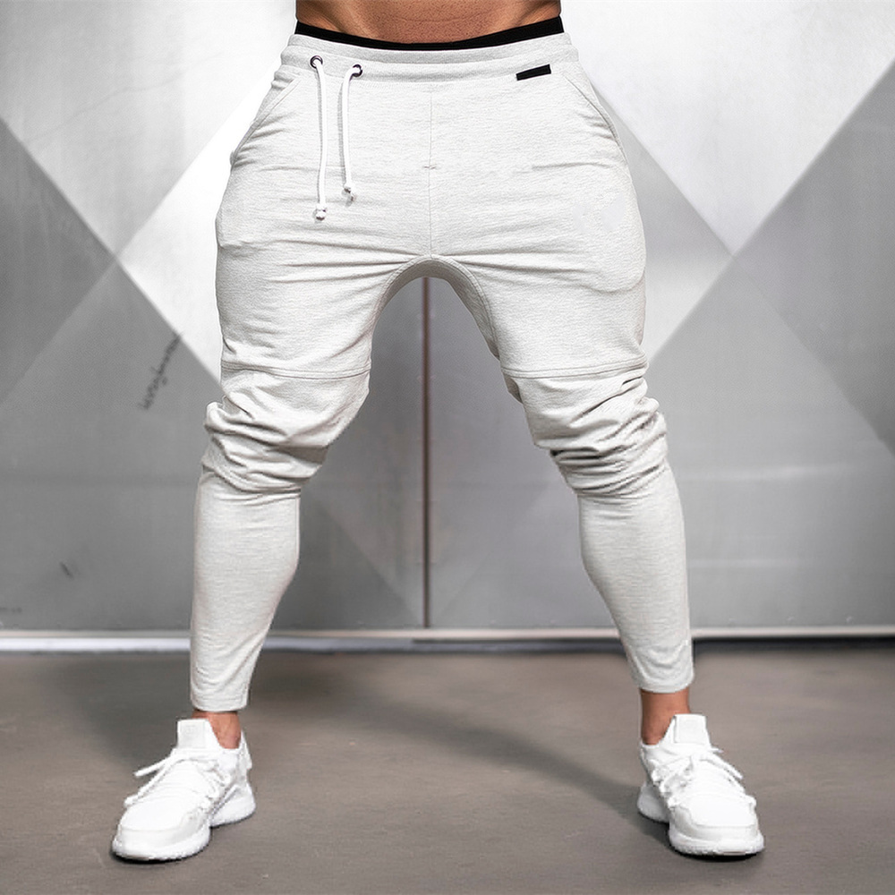 Solid Gym Sweatpants Joggers Pants Men Casual Trousers Male Fitness Sport Workout Cotton Track Pants Spring Autumn Sportswear